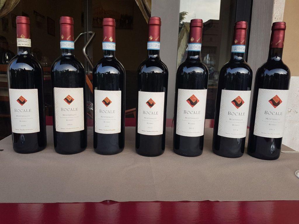 Montefalco rosso Bocale annate2015 2009