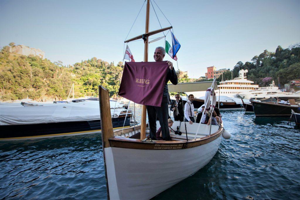 L'arrivo di Oliver Krug a Portofino