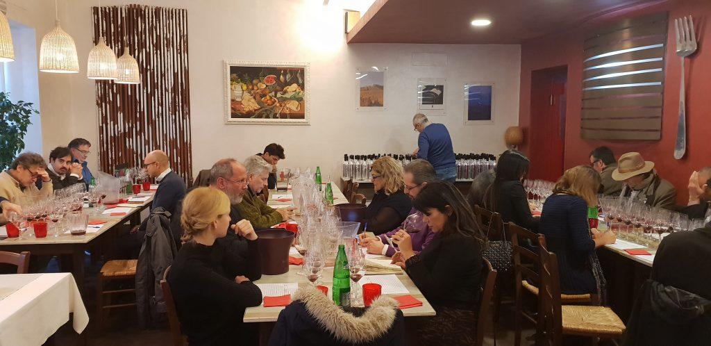 I partecipanti alla degustazione di Brunello di Montalcino