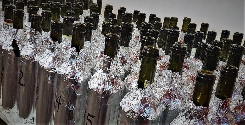 Le bottiglie in assaggio