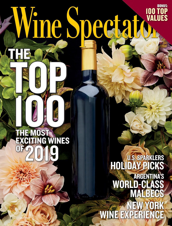 Risultato immagini per copertina Wine spectator  top 100 2019